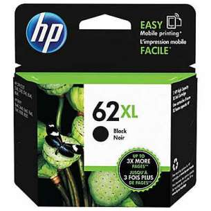 Original Hewlett Packard (HP) C2P05AN (HP 62XL ink) inkjet cartridge - high capacity black
