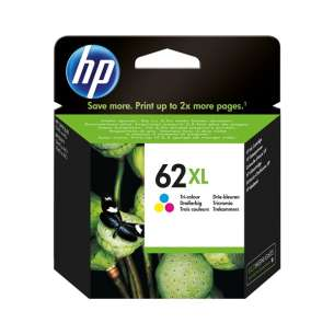 Original Hewlett Packard (HP) C2P07AN (HP 62XL ink) inkjet cartridge - high capacity color