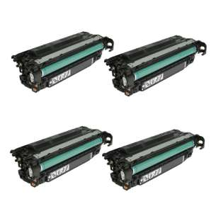 Compatible HP CE260X (649X) toner cartridges - 4-pack
