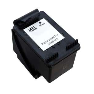 Remanufactured HP N9K04AN (HP 65XL ink) inkjet cartridge - high capacity black