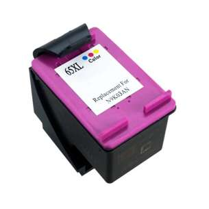 Remanufactured HP N9K03AN (HP 65XL ink) inkjet cartridge - high capacity color