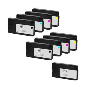 Remanufactured inkjet cartridges Multipack for HP 711 - 9 pack