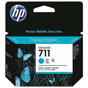 Original Hewlett Packard (HP) CZ130A (HP 711 ink) inkjet cartridge - cyan