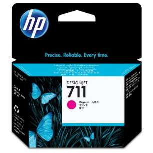 Original Hewlett Packard (HP) CZ131A (HP 711 ink) inkjet cartridge - magenta