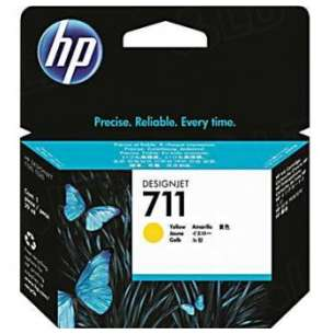 Original Hewlett Packard (HP) CZ132A (HP 711 ink) inkjet cartridge - yellow