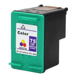 Remanufactured HP CB338WN (HP 75XL ink) inkjet cartridge - high capacity color