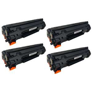 Compatible Atlantic Inkjet Canada HP CE278A (78A) toner cartridges - 4-pack
