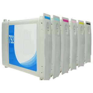 Remanufactured inkjet cartridges Multipack for HP 792 - 6 pack