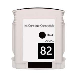 Remanufactured HP CH565A (HP 82 ink) inkjet cartridge - black cartridge