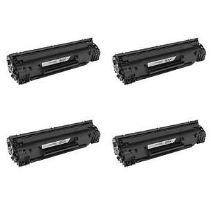 Compatible HP CF283X (83X) toner cartridges - 4-pack