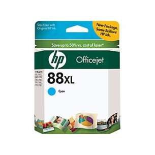 Original Hewlett Packard (HP) C9391AN (HP 88XL ink) inkjet cartridge - high capacity cyan