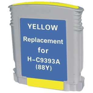 Remanufactured HP C9393AN (HP 88XL ink) inkjet cartridge - high capacity yellow