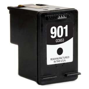 Remanufactured HP CC653A (HP 901 ink) inkjet cartridge - black cartridge