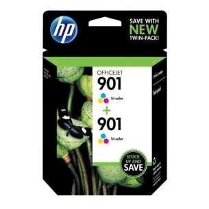 Original Hewlett Packard (HP) CZ076FN (HP 901 Color) Multipack - 2 pack