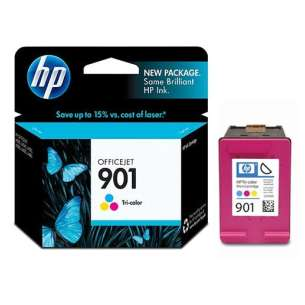 Original Hewlett Packard (HP) CC656AN (HP 901 ink) inkjet cartridge - color cartridge