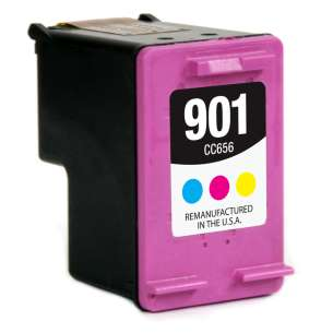 Remanufactured HP CC656AN (HP 901 ink) inkjet cartridge - color cartridge