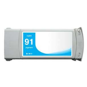 Remanufactured HP C9467A (HP 91 ink) inkjet cartridge - cyan