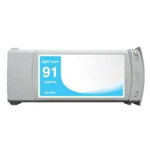 Remanufactured HP C9470A (HP 91 ink) inkjet cartridge - light cyan