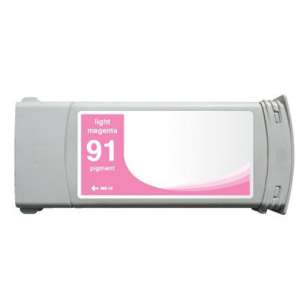Remanufactured HP C9471A (HP 91 ink) inkjet cartridge - light magenta