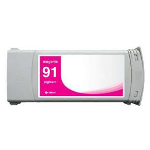 Remanufactured HP C9468A (HP 91 ink) inkjet cartridge - magenta