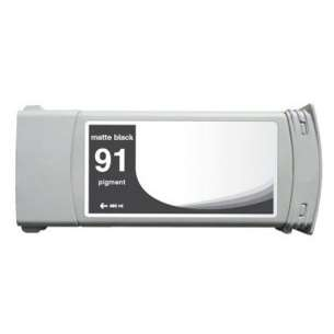 Remanufactured HP C9464A (HP 91 ink) inkjet cartridge - matte black