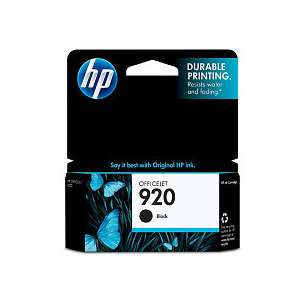 Original Hewlett Packard (HP) CD971AN (HP 920 ink) inkjet cartridge - black cartridge
