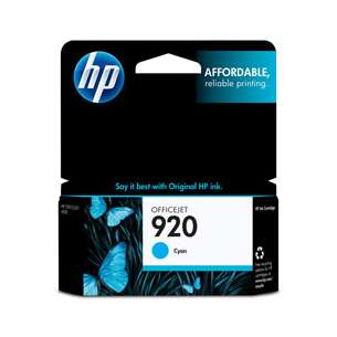 Original Hewlett Packard (HP) CH634AN (HP 920 ink) inkjet cartridge - cyan