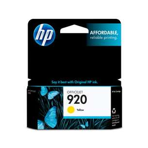 Original Hewlett Packard (HP) CH636AN (HP 920 ink) inkjet cartridge - yellow