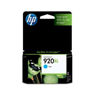Original Hewlett Packard (HP) CD972AN (HP 920XL ink) inkjet cartridge - high capacity cyan