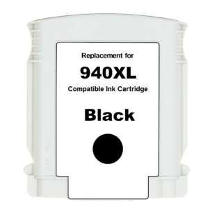 Premium ink cartridge replacement for HP 940XL - high yield black - Made in the USA
