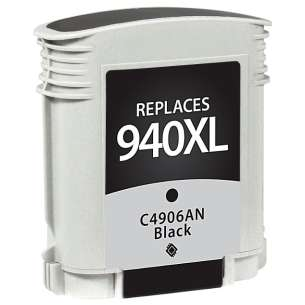 Remanufactured HP C4906AN (HP 940XL ink) inkjet cartridge - high capacity black