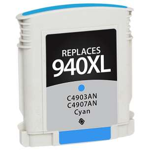Remanufactured HP C4907AN (HP 940XL ink) inkjet cartridge - high capacity cyan