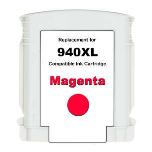 Premium ink cartridge replacement for HP 940XL - high yield magenta - Made in the USA