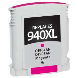 Remanufactured HP C4908AN (HP 940XL ink) inkjet cartridge - high capacity magenta