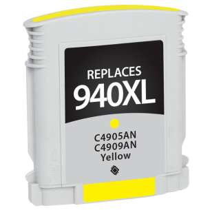 Remanufactured HP C4909AN (HP 940XL ink) inkjet cartridge - high capacity yellow