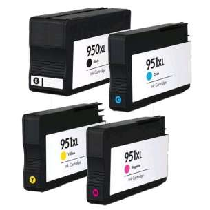 Remanufactured inkjet cartridges Multipack for HP 950XL/951XL - 4 pack (FULL INK LEVEL SHOWN)