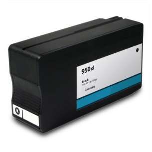 Remanufactured HP CN045AN (HP 950XL ink) inkjet cartridge - high capacity black (FULL INK LEVEL SHOWN)