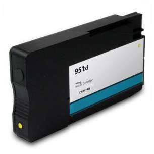 Remanufactured HP CN048AN (HP 951XL ink) inkjet cartridge - high capacity yellow (FULL INK LEVEL SHOWN)