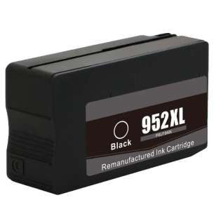 Remanufactured HP F6U19AN (HP 952XL ink) inkjet cartridge - high capacity black