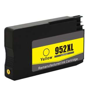 Remanufactured HP L0S67AN (HP 952XL ink) inkjet cartridge - high capacity yellow