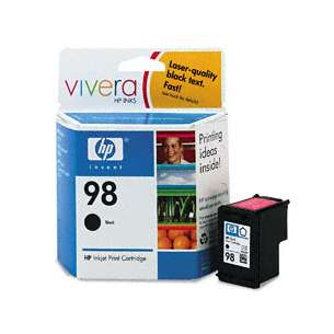 Original Hewlett Packard (HP) C9364WN (HP 98 ink) inkjet cartridge - black cartridge