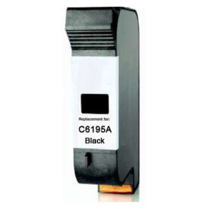 Remanufactured HP C6195A inkjet cartridge - black cartridge