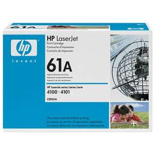 Original Hewlett Packard (HP) C8061A (61A) toner cartridge - black cartridge