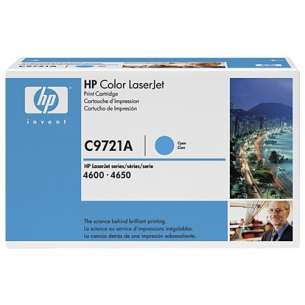Original Hewlett Packard (HP) C9721A (641A) toner cartridge - cyan