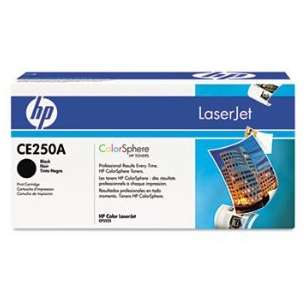 Original Hewlett Packard (HP) CE250A (504A) toner cartridge - black cartridge