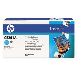 Original Hewlett Packard (HP) CE251A (504A) toner cartridge - high capacity cyan
