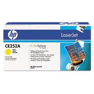 Original Hewlett Packard (HP) CE252A (504A) toner cartridge - high capacity yellow