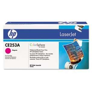 Original Hewlett Packard (HP) CE253A (504A) toner cartridge - high capacity magenta