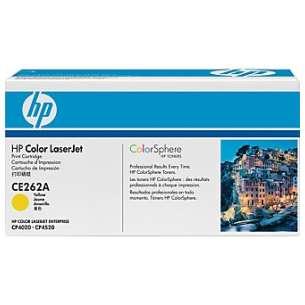 Original Hewlett Packard (HP) CE262A (648A) toner cartridge - yellow