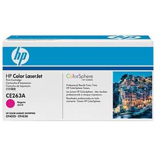 Original Hewlett Packard (HP) CE263A (648A) toner cartridge - magenta